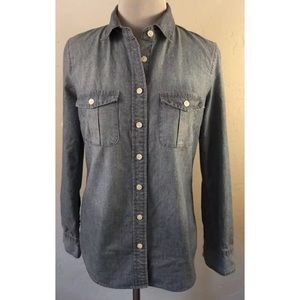 J. Crew Factory Classic Chambray Shirt 2XS